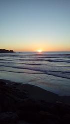 Punakaiki sunset. photo