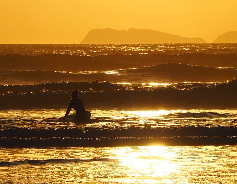 September Evening Surf, Newgale