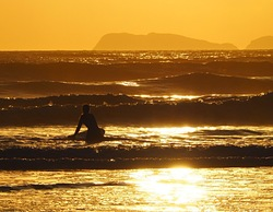 September Evening Surf, Newgale photo