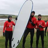 About to go out for surf lesson with new wave surf scool, Sandend Bay