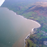 Llyn Peninsula from the air, Trefor