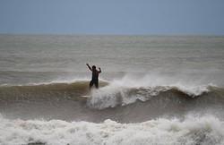 Walking the plank, Surfside Jetty photo