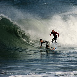 Surfing together, Marina photo
