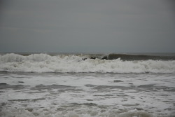 Surf Kayaking. Overhead and dumping.., Llantwit Major photo