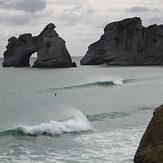 Fading Swell at Wharariki, Wharariki Beach