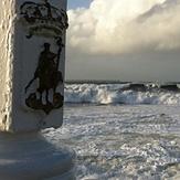 Pelayo y la ola, Playa de San Lorenzo
