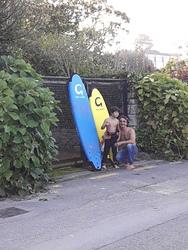 listo para el surfing, Playa de Bastiagueiro photo