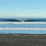 A frame looking lonely without a surfer., Ocean Shores