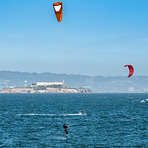 Kite Surfing San Francisco Bay, Fort Point