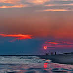 Sunset at Demo, Democrat Point Robert Moses