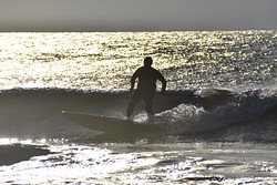 """Sunrise Silhouette Surfer"", Murrells Inlet photo"