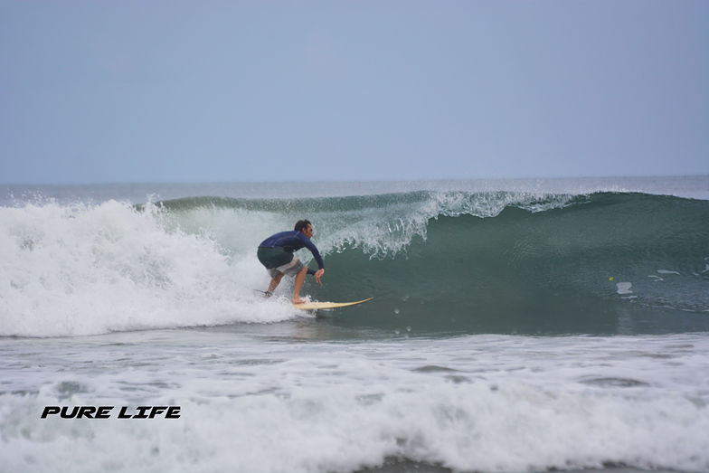 Patrick Mihalic getting a barrel in Playa Grande