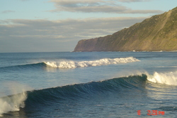 Double waves in the Azores, Faial - Praia do Norte photo