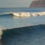 Double waves in the Azores, Faial - Praia do Norte