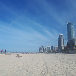 Facing south from Surfers Paradise.