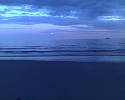 Moon rising, Nahant Beach photo