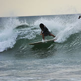 Moises Rojas with a cutback, Tamarindo