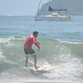 Patrick Mihalic surfing Capitan Suizo