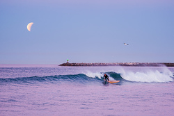 Surfing Under a Lunar Eclipse, Oceanside Harbor photo
