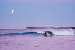 Surfing Under a Lunar Eclipse, Oceanside Harbor photo