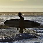 Surfer Silhouette, Jordan River