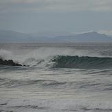 La ola del espigón, Playa de Gros