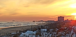 Sunset at the pier, Ventnor Pier photo