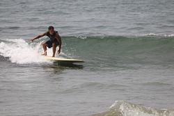 Brian Marius going left, Refugio State Beach photo