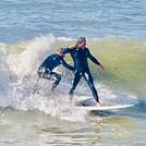 Tandem wave riders, Royal Palms State Beach