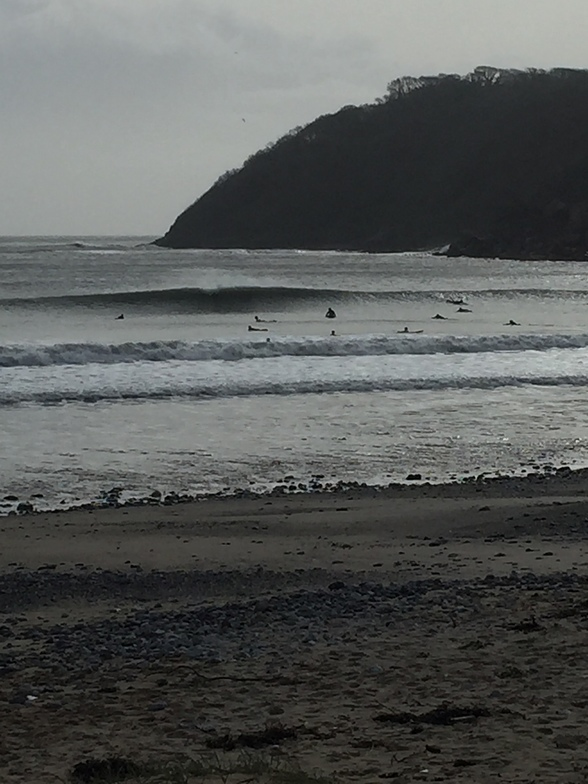 cold morning sesh, Oxwich Bay