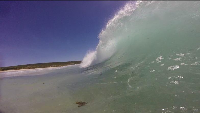 Shore break barrels, Smiths Point and Beach