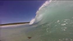Shore break barrels, Smiths Point and Beach photo