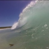 Shore break barrels, Smiths Point and Beach