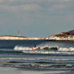 Winter Paddle Surfer at Good Harbor Beach