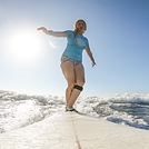 Cross stepping at Coco, Oyster Bay Beach - Coco Beach