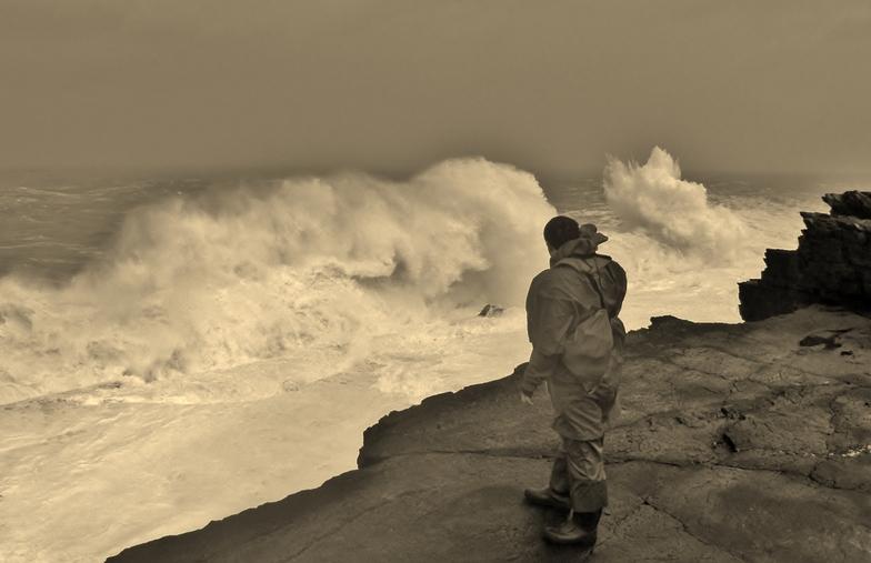 breaking wave, St Finan's Bay