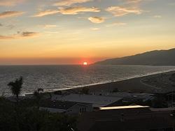 Summer sunset, Zuma Beach photo