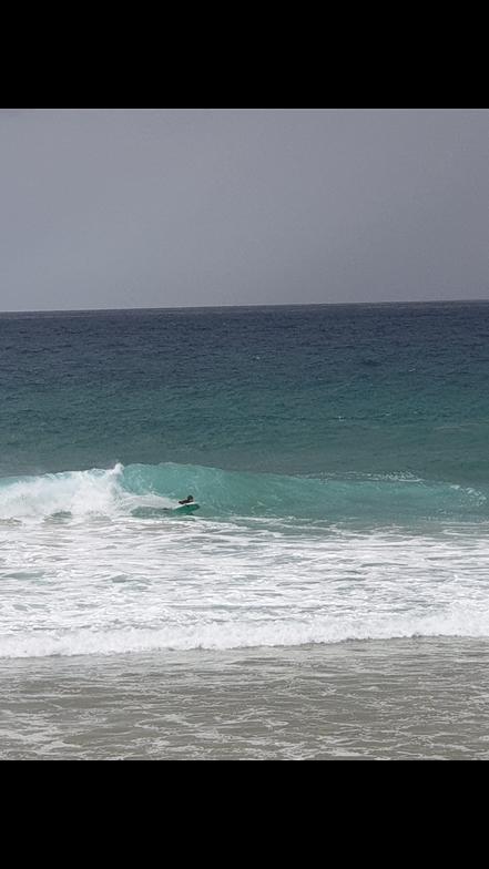 Javier bodyboard, Playa de Andrin