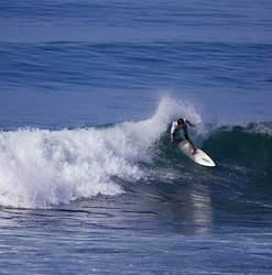 Brandon Garcia riding a couple of waves, Tijuana Sloughs photo
