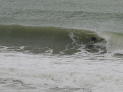 Unknown about to get slotted, Sandy Bay photo