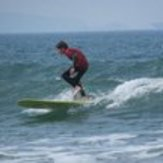Longboarding at newgale