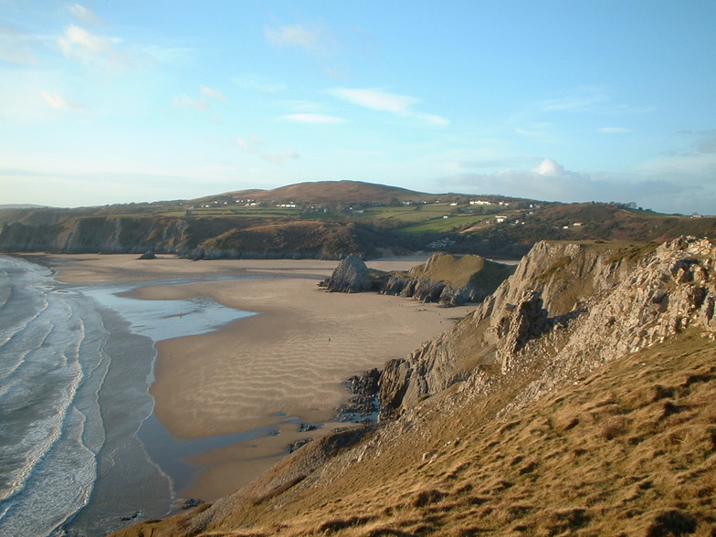 Pobbles and Three Cliffs, Pobbles Beach