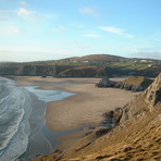 Pobbles and Three Cliffs, Pobbles Beach