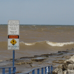 watch the rip currents:), Sheboygan