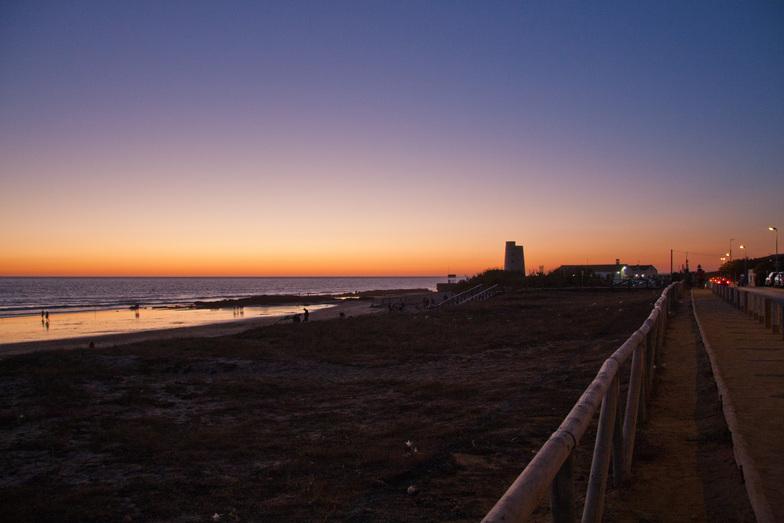 Anochecer en El Palmar, Playa El Palmar