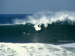 not identified surfer in a big drop!, Canto do Leblon photo