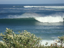 cape paterson channel surfing , going off ! photo