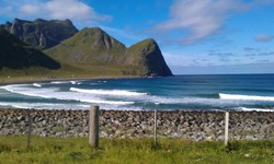 Unstad - in summer, Unstad (Lofoten) photo