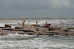 Day after tropical storm Don August 2011, Port Aransas photo
