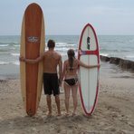 Teaching Boys How to Surf